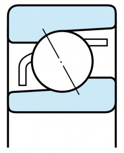 Enkeltradede-vinkelkontaktleje-staal